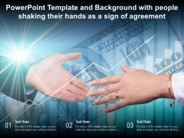 Powerpoint Template And Background With People Shaking Their Hands As A Sign Of Agreement