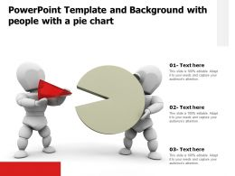 Powerpoint Template And Background With People With A Pie Chart