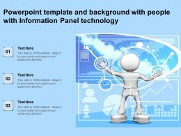 Powerpoint Template And Background With People With Information Panel Technology