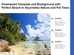 Powerpoint Template And Background With Perfect Beach In Seychelles Nature And Pal Trees