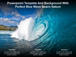 Powerpoint Template And Background With Perfect Blue Wave Beach Nature