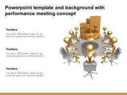 Powerpoint Template And Background With Performance Meeting Concept