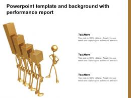 Powerpoint Template And Background With Performance Report