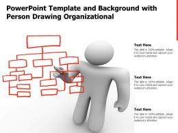 Powerpoint Template And Background With Person Drawing Organizational