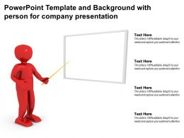 Powerpoint Template And Background With Person For Company Presentation