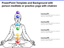 Powerpoint Template And Background With Person Meditate Or Practice Yoga With Chakren