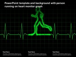 Powerpoint Template And Background With Person Running On Heart Monitor Graph