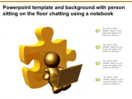 Powerpoint Template And Background With Person Sitting On The Floor Chatting Using A Notebook