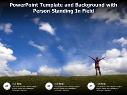 Powerpoint Template And Background With Person Standing In Field