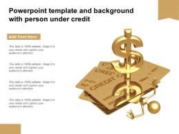 Powerpoint Template And Background With Person Under Credit