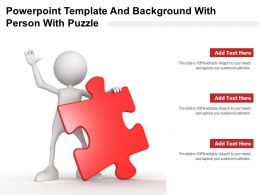 Powerpoint Template And Background With Person With Puzzle