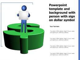Powerpoint Template And Background With Person With Sign On Dollar Symbol