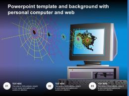 Powerpoint Template And Background With Personal Computer And Web