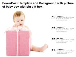 Powerpoint Template And Background With Picture Of Baby Boy With Big Gift Box