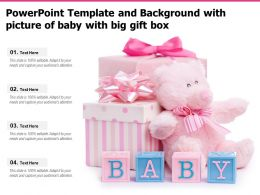 Powerpoint Template And Background With Picture Of Baby With Big Gift Box