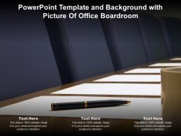 Powerpoint Template And Background With Picture Of Office Boardroom