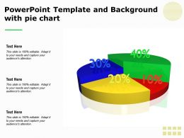 Powerpoint Template And Background With Pie Chart
