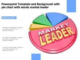Powerpoint Template And Background With Pie Chart With Words Market Leader