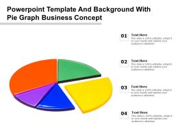 Powerpoint Template And Background With Pie Graph Business Concept