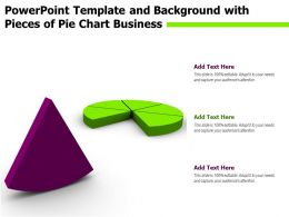 Powerpoint Template And Background With Pieces Of Pie Chart Business