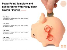 Powerpoint Template And Background With Piggy Bank Saving Finance