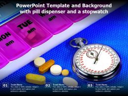 Powerpoint Template And Background With Pill Dispenser And A Stopwatch