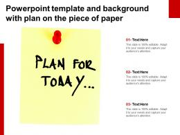Powerpoint Template And Background With Plan On The Piece Of Paper