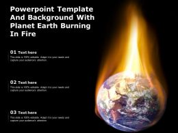 Powerpoint Template And Background With Planet Earth Burning In Fire