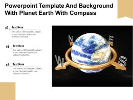 Powerpoint Template And Background With Planet Earth With Compass