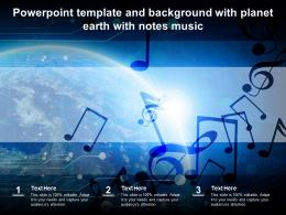 Powerpoint Template And Background With Planet Earth With Notes Music
