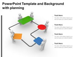 Powerpoint Template And Background With Planning