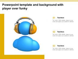 Powerpoint Template And Background With Player Over Funky