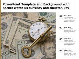 Powerpoint Template And Background With Pocket Watch Us Currency And Skeleton Key