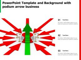 Powerpoint Template And Background With Podium Arrow Business