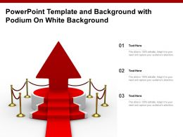 Powerpoint Template And Background With Podium On White Background