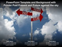 Powerpoint Template And Background With Pointer Past Present And Future Against The Sky