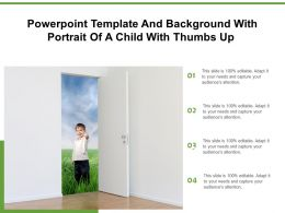 Powerpoint Template And Background With Portrait Of A Child With Thumbs Up