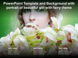 Powerpoint Template And Background With Portrait Of Beautiful Girl With Fairy Theme
