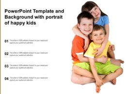 Powerpoint Template And Background With Portrait Of Happy Kids