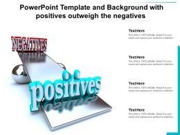 Powerpoint Template And Background With Positives Outweigh The Negatives