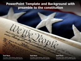 Powerpoint Template And Background With Preamble To The Constitution