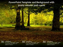 Powerpoint Template And Background With Pretty Autumn Park Scene