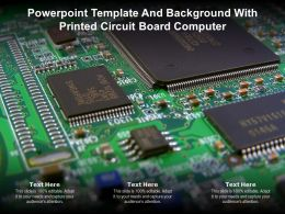 Powerpoint Template And Background With Printed Circuit Board Computer