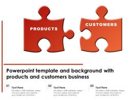 Powerpoint Template And Background With Products And Customers Business