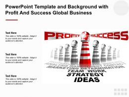 Powerpoint Template And Background With Profit And Success Global Business