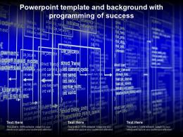 Powerpoint Template And Background With Programming Of Success