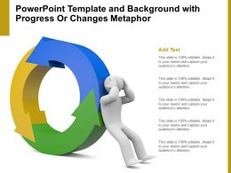 Powerpoint Template And Background With Progress Or Changes Metaphor