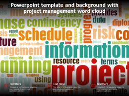 Powerpoint Template And Background With Project Management Word Cloud