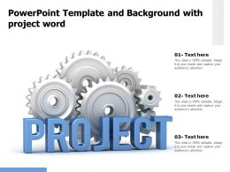 Powerpoint Template And Background With Project Word
