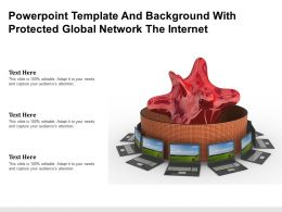 Powerpoint Template And Background With Protected Global Network The Internet